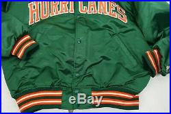 Vintage Miami Hurricanes Starter Jacket Size Large Made in the USA