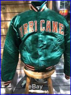 Vintage Miami Hurricanes Starter Jacket Sz L 2 Live Crew Made In USA