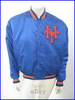 Vintage NEW YORK NY METS Blue Starter Jacket USA MADE Size LARGE