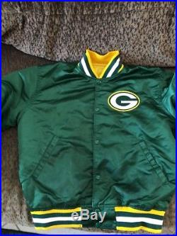 Vintage NFL Authentic Pro-Line Green Bay Packers Starters Jacket Nylon Satin