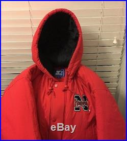 Vintage Nebraska Cornhuskers Hooded Starter Jacket XXL EUC Rare NCAA Orange Bowl