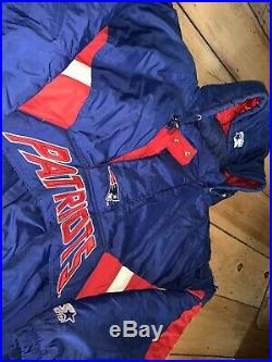 Vintage New England Patriots Authentic STARTER Jacket PRO LINE XL RARE