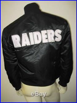 Vintage OAKLAND RAIDERS Silver and Black REVERSIBLE STARTER Jacket Size MEDIUM