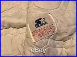 Vintage Oakland Raiders NFL Spell-Out Silver Starter Satin Jacket Adult Size M
