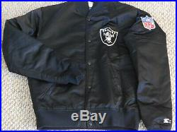 Vintage Oakland Raiders Starter Jacket Medium, Size M, Made In The U. S. A