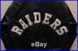 Vintage Oakland Raiders Starter Shiny Satin Bomber Jacket Black Large NFL NWA LA