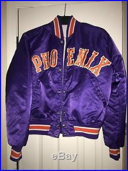 Vintage Phoenix Suns Purple NBA Authentics Starter Satin Jacket RARE STYLE Med