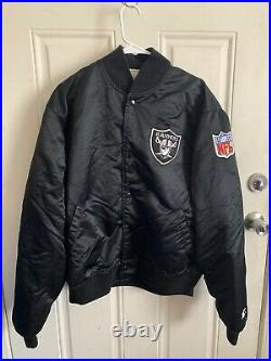 Vintage Raiders Satin Jacket Embroidered RAIDERS Spell Out On Back Mens XL
