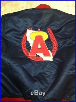 Vintage Rare Stitch On 80s Starter California Angels Jacket MLB Size L