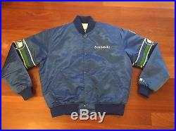 Vintage Seattle Seahawks Satin Starter Jacket, Size Adult Large Great Condition