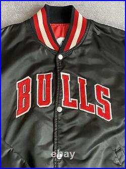 Vintage Starter Chicago Bulls NBA Basketball Varsity Jacket 90s Made in USA XL