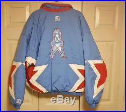 Vintage Starter Classic Team Collection Houston Oilers Jacket Large