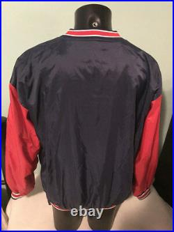 Vtg Cleveland Indians Jacobs Field Starter Jacket Mens Large with Huge Chief Wahoo
